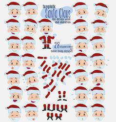 Santa claus twenty eight expressions and basics vector