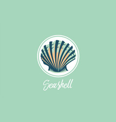 seashell design logo vector image