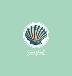 Seashell design logo vector