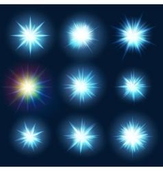 Set various forms blue burst sparks eps 10 vector