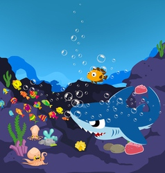 Sharks and oceanic vector image