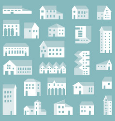small town city pattern vector image