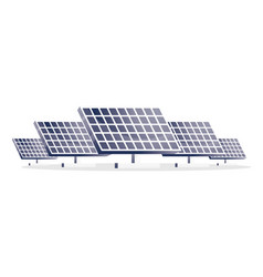 solar panels isolated on white five panels vector image