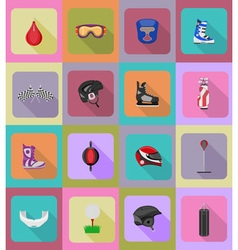 Sport flat icons 40 vector