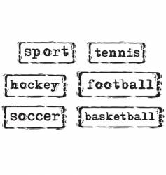 Sport stamps vector