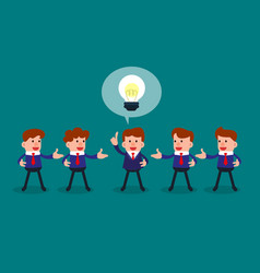 Successful businessman give ideas for another vector