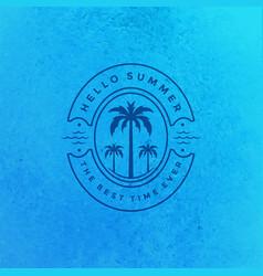 Summer holidays label or badge typography slogan vector