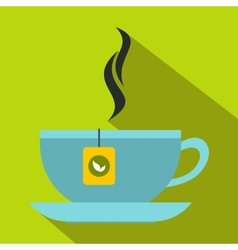 Tea cup icon flat style vector