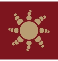 The sun icon sunrise and sunshine weather sun vector
