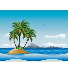 Tropical island in the ocean2 vector