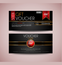 voucher gift card layout template for your vector image