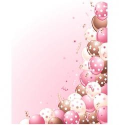 balloons on a pink background vector image vector image