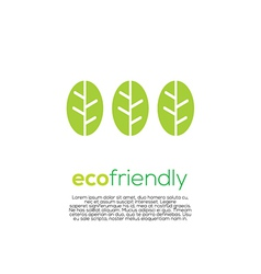 Eco-Friendly Concept vector image vector image