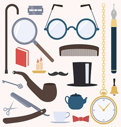 Gentlemens vintage design elements set vector image vector image