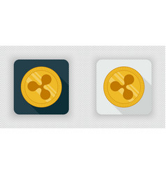 light and dark ripple crypto currency icon vector image vector image
