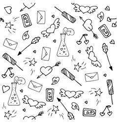 love symbols seamless pattern happy valentine s vector image
