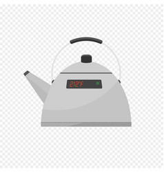 smart kettle isolated on transparent light vector image