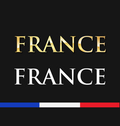 France - golden and white captions vector