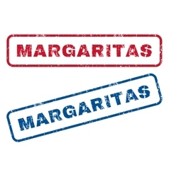 Margaritas Rubber Stamps vector image vector image