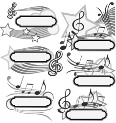 music title vector image vector image