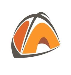 Orange cartoon tent vector image
