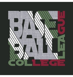 t-shirt baseball design vector image