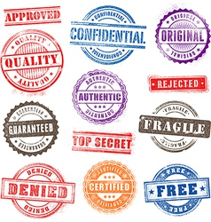 Grunge Commercial Stamps Set2 vector image vector image