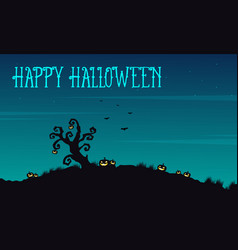 happy halloween background at night vector image vector image