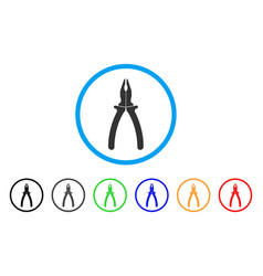 pliers rounded icon vector image vector image