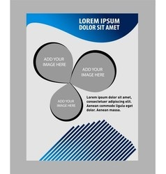 Professional business flyer template vector image