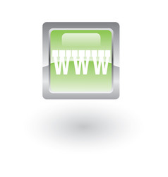 square glossy icon website vector image