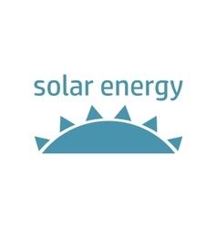 green energy logo sun vector image vector image