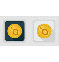 light and dark siacoin crypto currency icon vector image vector image