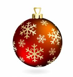 red christmas ball on white vector image vector image