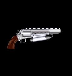 Steampunk revolver vector image vector image
