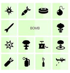 14 bomb icons vector