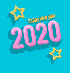 3d text happy new year 2020 vector