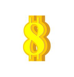8 numeral bitcoin font eight numeric crypto vector image