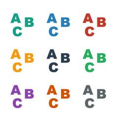 Abc icon white background vector