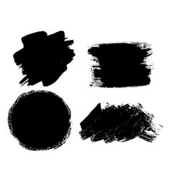 Abstract brush stroke black ink pain dirty vector