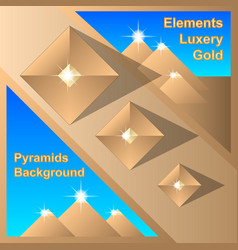 abstract egiptian pyramids background vector image