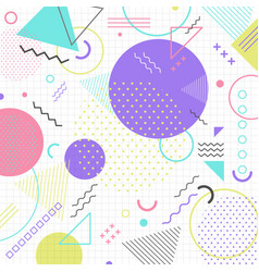 abstract geometric shape pattern in retro 80s on vector image