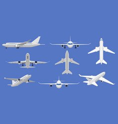 airplane flight aircraft plane in front side vector image