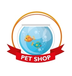 aquarium pet shop icon vector image