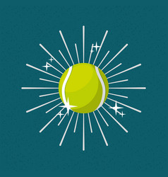 ball sport tennis sunburst color background vector image
