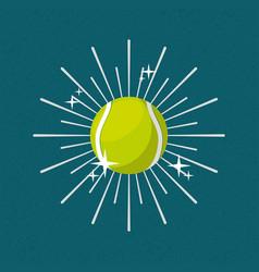 ball sport tennis sunburst color background vector image