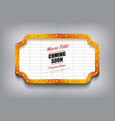 Blank cinema billboard vector