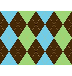 Brown green argyle seamless pattern vector