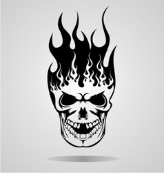 Burning Skull Tattoo vector image