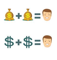 businessman with money rich businessman vector image